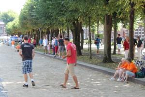 Petanque op De Lind in Oisterwijk (foto Joris van der Pijll)