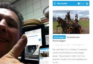 De weergave van Oisterwijk Nieuws past zichzelf aan, aan het scherm van de gebruiker.