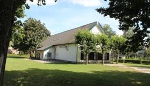 Het wijkgebouw De Waterhoef in Oisterwijk, een ontmoetingsplek voor inwoners.