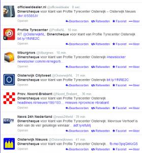 Het effect van twitter...
