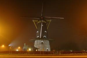 kerkhovense molen in de mist toby de kort