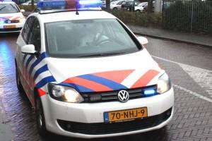 112 politie met zwaailicht en sirene onderweg