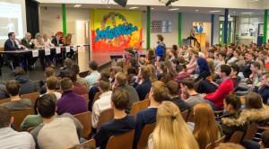Politieke dag in de aula van 2 College Durendael