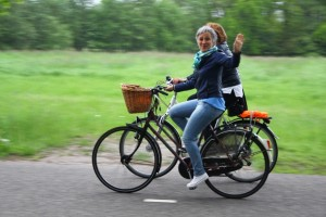 Genieten op de fiets tijdens Pareltoer Oisterwijk. (Foto: Jurgen de Rooij).