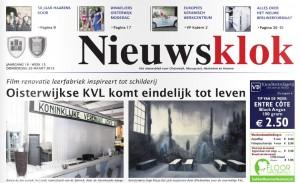 De kop van weekblad de Nieuwsklok in Oisterwijk