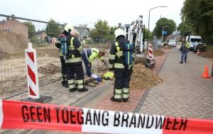 Brandweer aanwezig bij gaslek in Haaren (Foto: Toby de Kort).