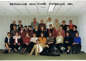 Sans Fumee in een groepsfoto uit 1991.