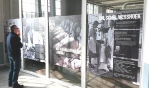 De informatiewand in de schijvershoek in ontvangstruimte KVL Oisterwijk.