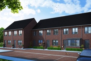 Nieuwe huurwoningen aan de Pastoor van der Meijdenstraat in Oisterwijk.